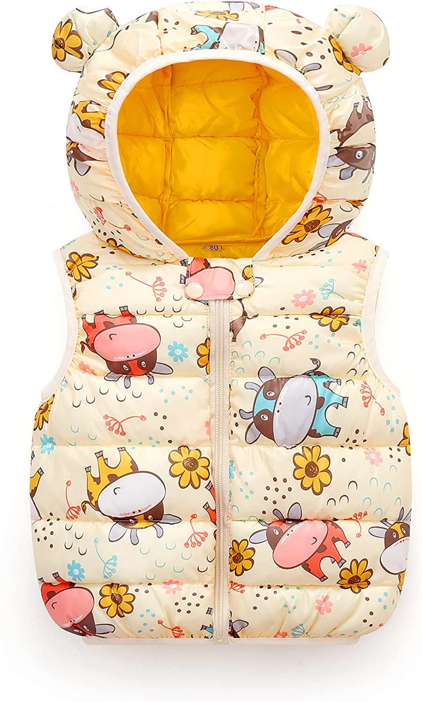 ELIKIDSTO Baby Boys Girls Bargain Puffer Cheap mail order specialty store Warm Children Cartoon Down Vest
