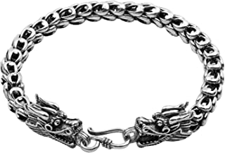 Wellme Sterling Silver Dragon Bracelet - Handmade Vintage 925 Jewelry 7'' 7.5'' 8'' 8.5'' or 9''