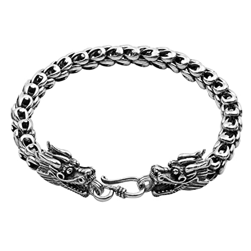 64ea91f627b Wellme Sterling Silver Dragon Bracelet - Handmade Vintage 925 Jewelry 7''  7.5''
