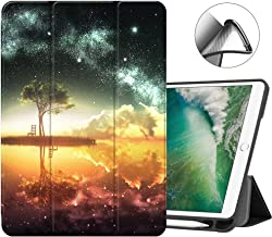MTAOTAO New iPad 9.7 Inch 2018 2017 Case with Pencil Holder Trifold Stand iPad Air 2 Case Retina,iPad Air 1 Cover Protective for Apple iPad 5th 6th Gen(A1822/A1823/A1893/A1954) -Anime Sky