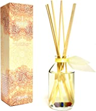 LOVSPA Meditate Lavender & Chamomile Reed Diffusers Scented Sticks Set - 7 Chakra Bonded Energy Stone Infused - Made with 7 Healing Essential Oils - Room Air Freshener and Aromatherapy