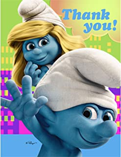 smurf thank you cards