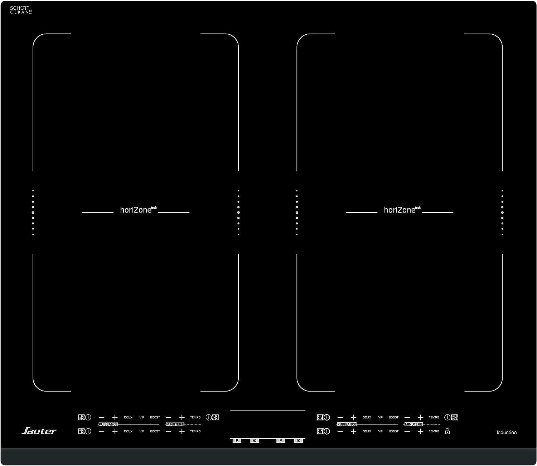 Sauter SPI4764B hobs Negro Integrado Con - Placa (Negro, Integrado, Con placa de inducción, Vidrio y cerámica, 5000 W, CE)