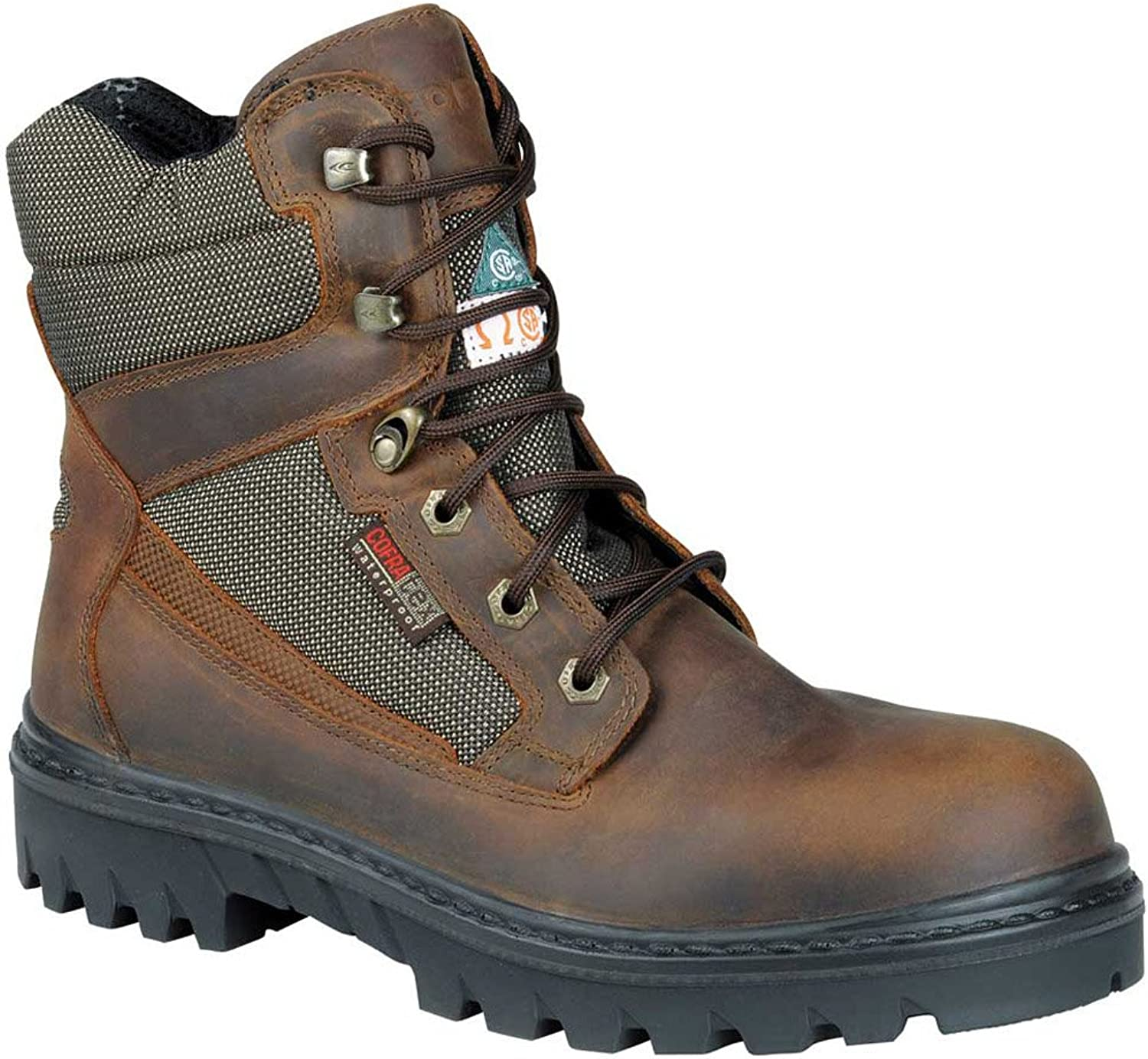 Cofra 27670-CU0.W08, 5 Raccoon EH PR Safety Boots, 8.5, Tan Brown