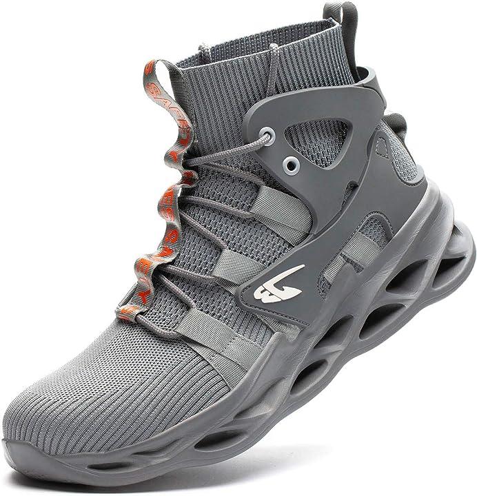 Scarpe sportive di sicurezza con punta in acciaio e traspiranti - judbf B08M3Z8Q6B
