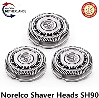 SH90/62 Norelco Shaver Heads Fits Philips Norelco Shaver series 9000 Shaving heads,Fits Star Wars Shaver SW67xx, Fits S9000 (S9xxx),Fits Star Wars Shaver SW97xx, 3 Packs(Made in Netherlands)