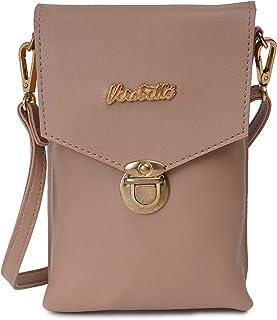 Verobelle Women Fashion Bag Purse Leatherite Mobile Sling Bag with 2 Card Holder Outdoor Shoulder Crossbody Evening Sling Bag