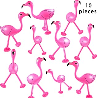 Bcpress 10 Pack Inflatable Flamingo Pink Flamingos for Hawaiian Party Decoration