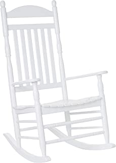 Cambridge Casual AMZ-130635W Bentley Traditional Porch Rocking Chair, White