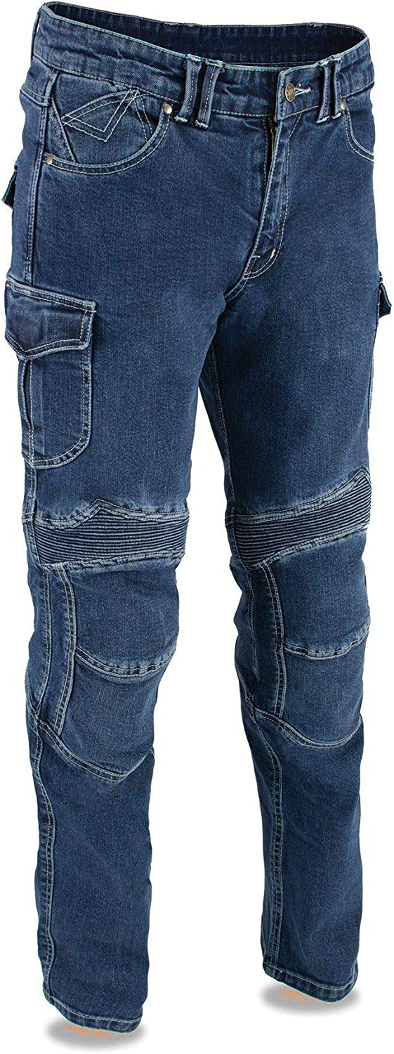 Max 53% OFF Milwaukee Leather Cheap super special price MDM5012 Men's Blue Armored Cut Denim Straight