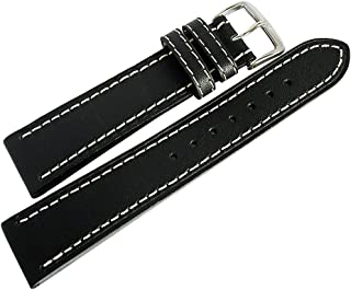 Di-Modell Jumbo 18mm Black Leather Watch Strap