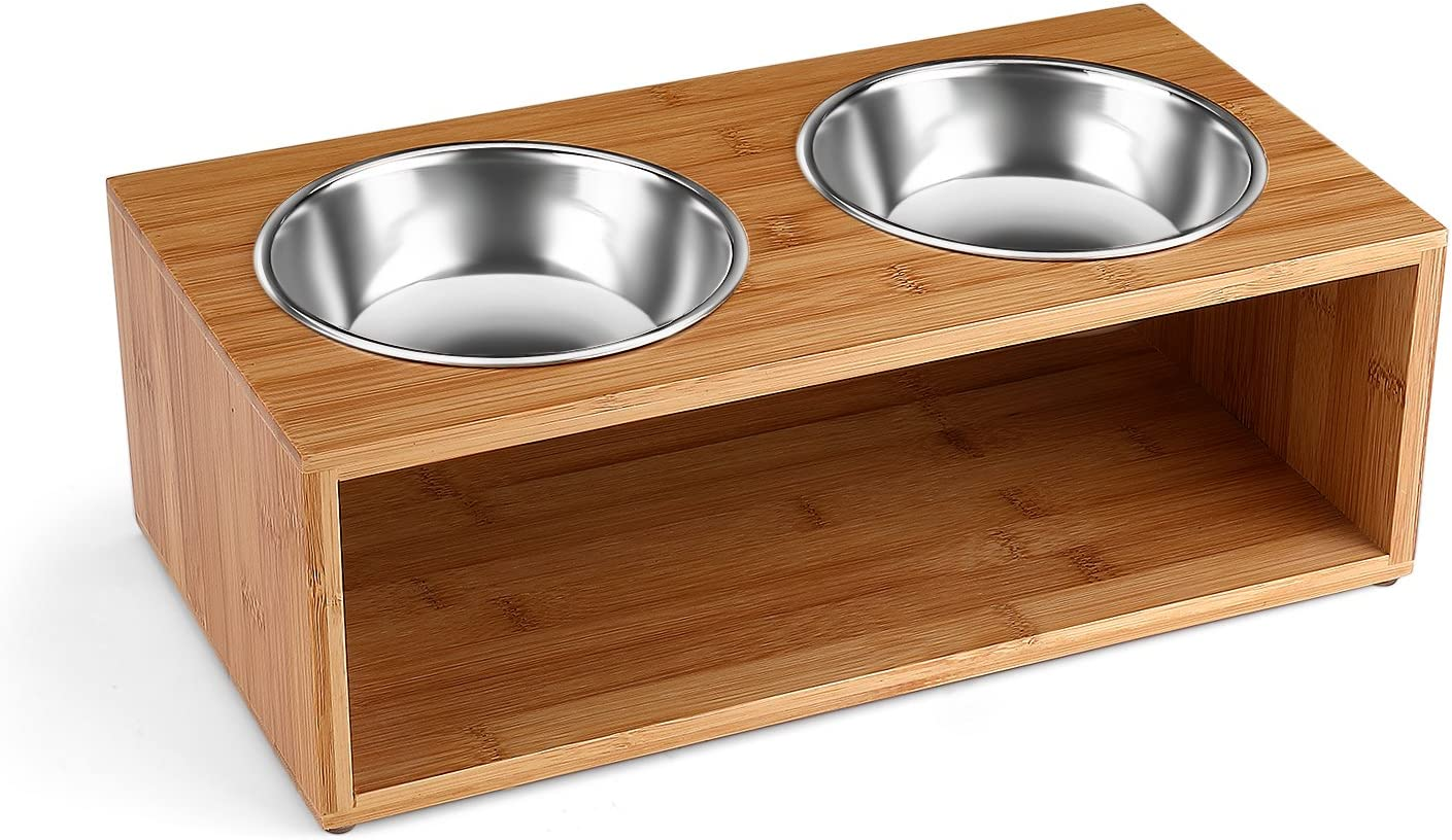 Flexzion Elevated Classic Raised Dog Large-scale sale and Cat Feeder S Bowls - Pet