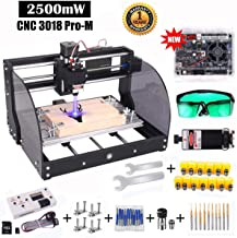 【Upgrade Version】CNC 3018 Pro-M GRBL Control DIY CNC Router Machine, Yofuly 2500mW Laser Engraver 3 Axis PCB PVC Milling Engraving Machine, with Extension Rod | Offline Controller Board