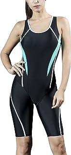 Dolamen Mujer Trajes de baño, Bañador Deportivo Legsuit
