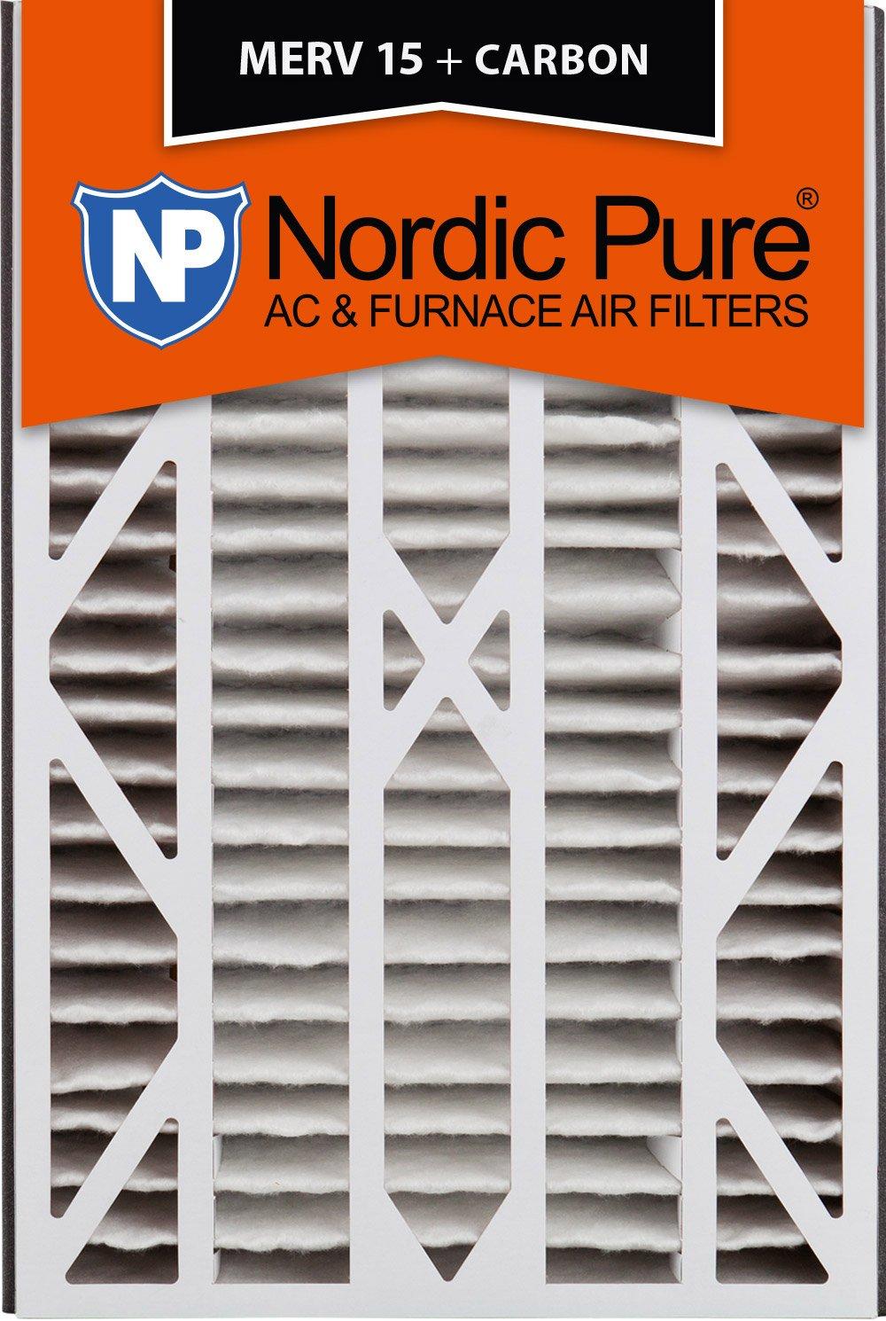 Nordic Pure 16x25x3ABM15+C-1 Merv 15 Plus 碳交流炉过滤器