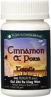 Cinnamon & Poria Teapills (Gui Zhi Fu Ling Tang), 200 ct, Plum Flower