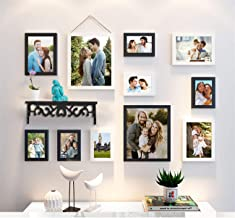 Art Street Synthetic Wood Wall Photo Frame (Black & White_6 Units 4X6 Inch , 3 Units 6X8 Inch , 2 Unit 8X10 Inch)