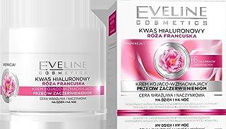 Eveline ROSA+ HYALURON anti-rynkkräm mot rödgödsel 50 ml