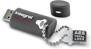 Integral Crypto 4GB Encrypted USB Flash Memory - Keep Sensitive Data Safe with USB Drive Hardware Encryption - Ruggedised ...