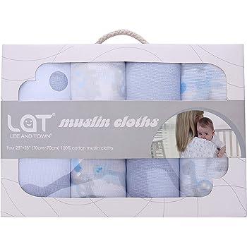 Muselina, pañuelos para bebés (3 unidades) gris piedra verde y ...