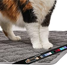 Gorilla Grip Ultimate Cat Litter Mat, Cleaner Floors, Less Waste, Soft on Kitty Paws, Easy Clean Trapper, Large Size Liner Trap Mats, Scatter Control, Traps Mess from Box, Accessories for Cats