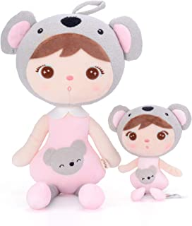 Me Too Baby Girl Gifts - Plush Koala Dolls Stuffed Toys with Gift Box 2 Piece Set (S + L)
