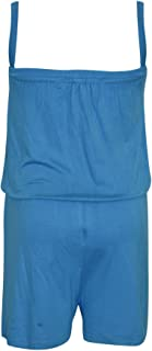 Kids Girls Plain Turquoise Color Playsuit Trendy All in One Jumpsuit Age 5-13 Yr
