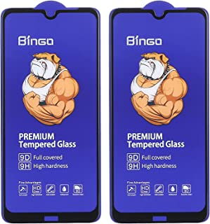 Dragon Bingo Tempered Glass 9D Screen Protector with Black Edges for Xiaomi Redmi Note 8, Pack of 2 - Clear
