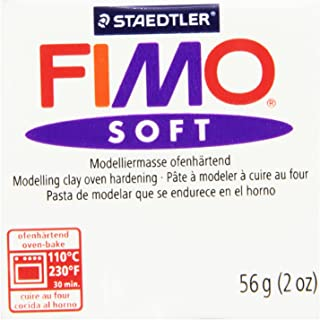 STAEDTLER Fimo Soft Polymer Clay 2 Ounces-8020-0 White