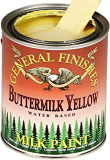 General Finishes PBY Water Based Milk Paint, 1 Pint, Buttermilk Yellow