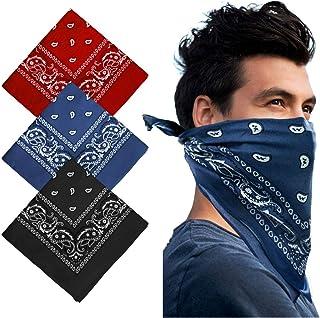 Keho Multifunctional Headwear Paisley Bandana – Cowboy Bandana Scarf Unisex Novelty Print Head Wrap Wristband for Yoga Run...