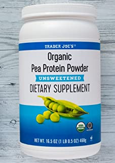 Organic Pea Protein Powder Unsweetened Dietary Supplement