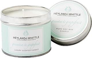 Heyland&削る緑茶とグレープフルーツキャンドルスズ (Heyland & Whittle) - Heyland & Whittle Green Tea and Grapefruit Candle Tin [並行輸入品]