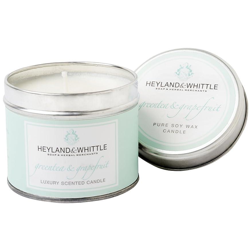 アウトドア花瓶祝福Heyland & Whittle Green Tea and Grapefruit Candle Tin (Pack of 2) - Heyland&削る緑茶とグレープフルーツキャンドルスズ (Heyland & Whittle) (x2) [並行輸入品]