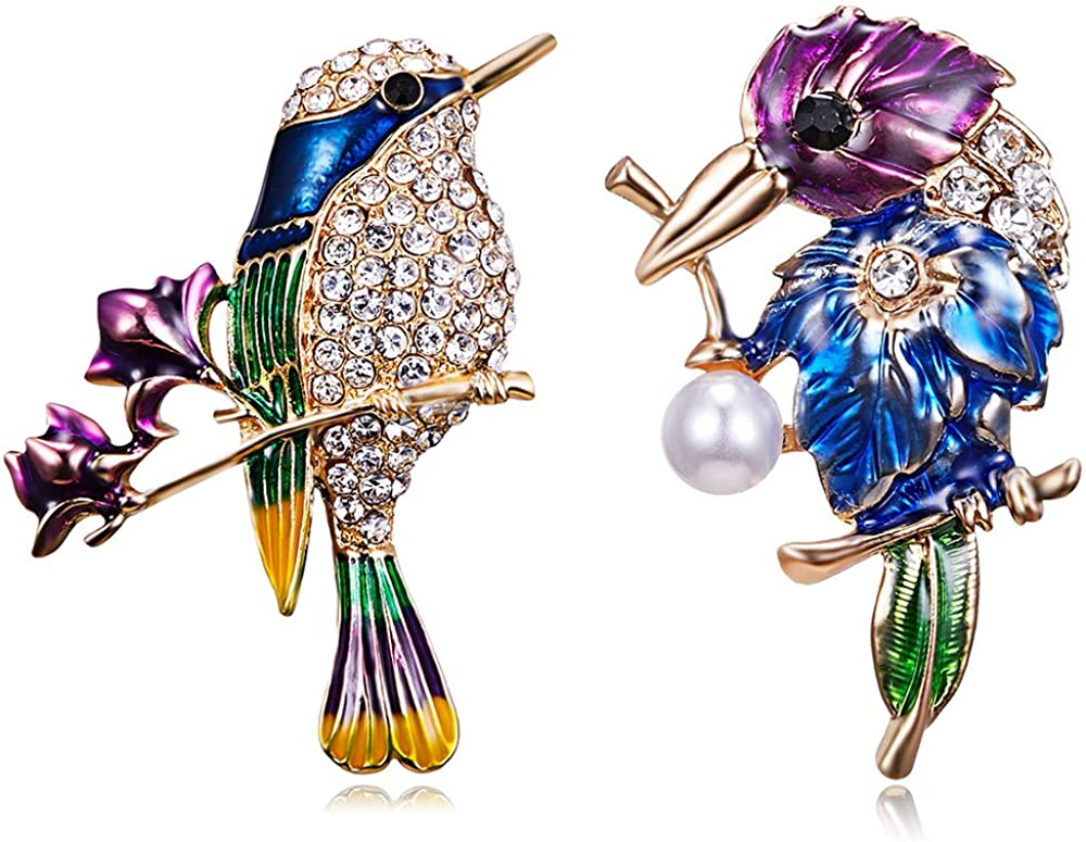 Enamel Bird Ranking TOP13 Brooch Pins Nippon regular agency Crystal Lapel Animal Badge Pin fo