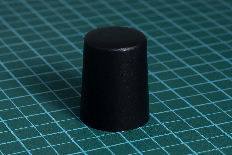 セメント無礼に練るロータリーエンコーダー用つまみ?ノブ「ニブルス?プリン15」【ブラック色】Dシャフト(平軸)6mm径対応