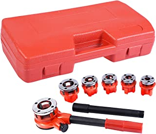 New Ratchet Ratcheting Pipe Threader Kit Set w/ 6 Dies and Storage Case
