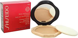 Shiseido Sheer and Perfect Compact Foundation B40 Natural Fair, Beige, 10g