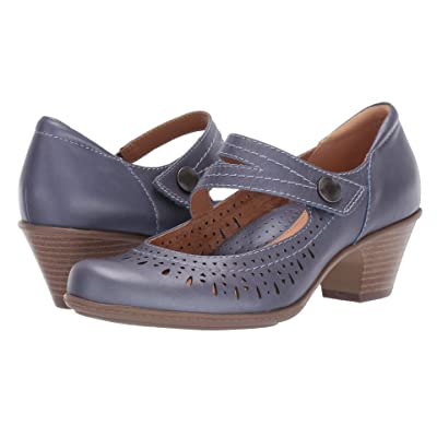 Earth Dione (Navy Pearlized Metallic Leather) Women