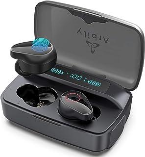 Arbily Auriculares Inalambricos, Auriculares Bluetooth con Dual Microfono, Graves Mejorados, Auriculares Inalámbricos con ...