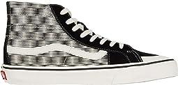 (Hemp Blur Checker) Black/Marshmallow