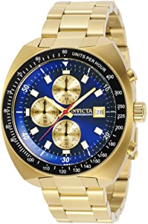 Invicta Men's Pro Diver Quartz Watch with Stainless Steel Strap, Gold, 22 (Model: 31492)