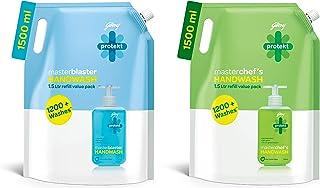Godrej Protekt Masterblaster Liquid Handwash Refill, 1500 ml & Masterchef's Liquid Handwash Refill, 1500 ml