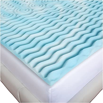 Gilbin Memory Foam Mattress Topper Cot Or Twin Size Fits Camp Cots perfect for kid's sleepaway camp and also fits RV beds