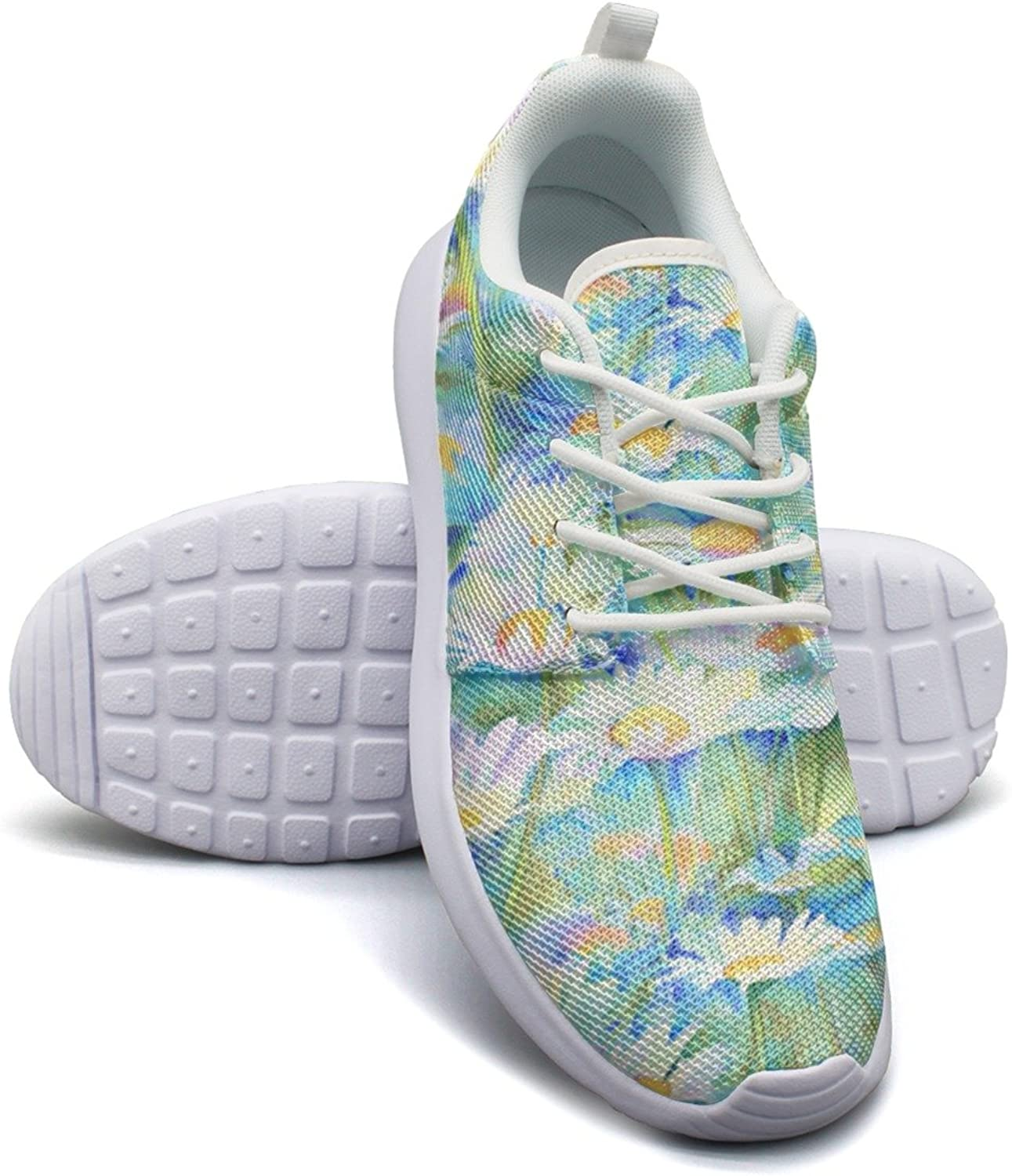Eoyles gy Happy Daisies Floral Pretty Women Slip Resistant Lightweight Running Walking shoes