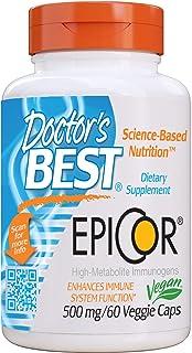 Doctor's Best Epicor, Immune Health Defense, Non-GMO, Vegan, Gluten Free, 500 Mg, 60 VC (DRB-00177)