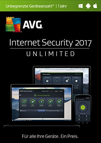 AVG Internet Security 2017 Unlimited / 12 Monate [Online Code]