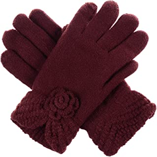 LL Womens Warm Winter Knit Fashion Gloves, Fleece Lined - Many Styles