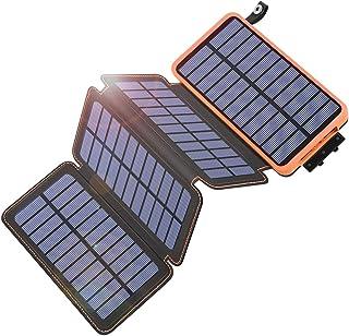 comprar comparacion Hiluckey Cargador Solar 25000mAh Portátil Power Bank con 4 Paneles Solar Batería Externa Impermeable para Smartphone, iPho...