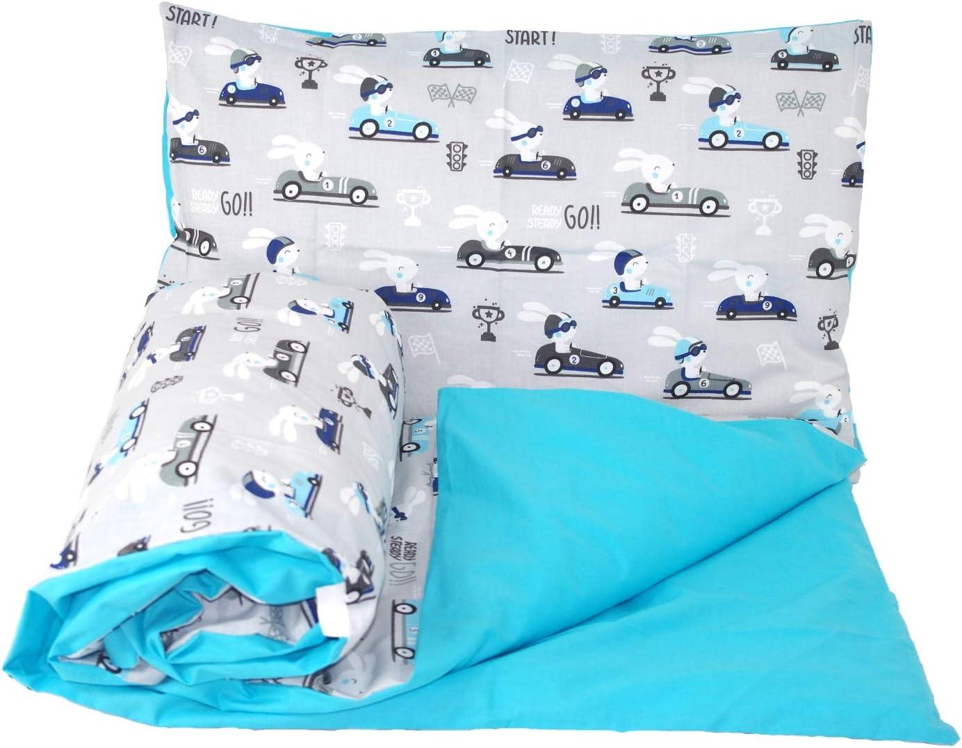 Babys Comfort Parure de lit r/éversible pour b/éb/é 2 pi/èces housse de couette et taie doreiller